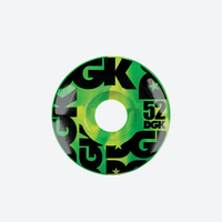 DGK Skateboard Wheels 52mm - Green Swirl