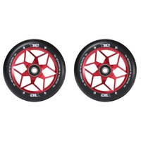 Envy 110mm Diamond Wheels - Red