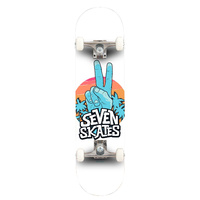 Seven Skates Complete Skateboard - Peace Out 8.25""