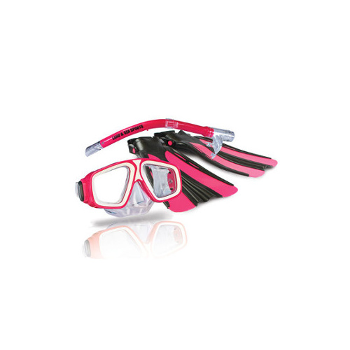 LAND & SEA PLATYPUS KIDS SNORKEL SET - PINK