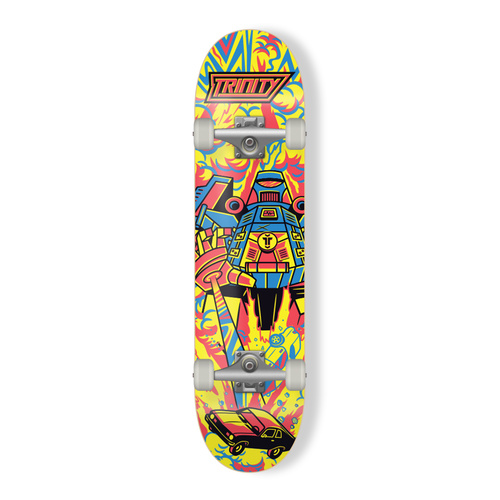 Trinity Complete Skateboard - Riot-Bot 7.75""