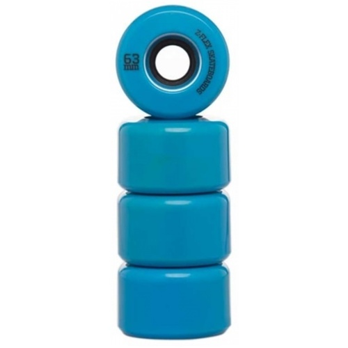 Z-Flex Skateboard Wheels - Z-Smooth / 63mm / Blue